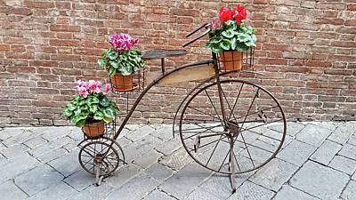 Digital Art - Bike Art - Siena, Italy by Joseph Hendrix