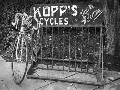 Photograph - Bike At Kopp's Cycles Shop In Princeton by Ben and Raisa Gertsberg