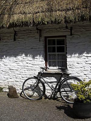 Bike At The Window County Clare Ireland Art Print by Teresa Mucha