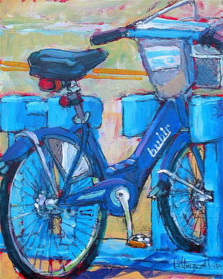 Painting - Bike Bubbler by Les Leffingwell