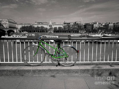 Photograph - Bike By The River Thames London by Lynn Bolt