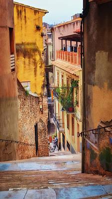 Girona Photograph - Bike Cafe On A Lane In Girona by Joan Carroll