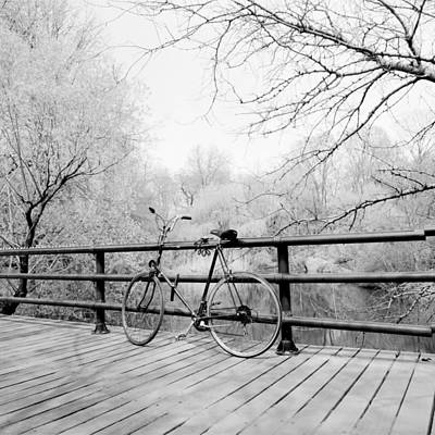 Photograph - Bike Central Park Bridge by Dave Beckerman