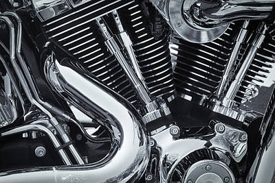 Photograph - Bike Chrome by Samuel M Purvis III