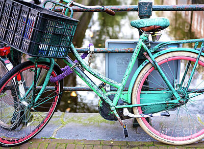 Photograph - Bike Colors In Amsterdam by John Rizzuto