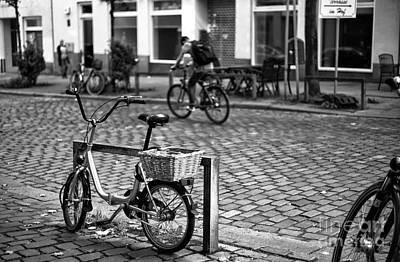 Photograph - Bike Day In Hamburg Mono by John Rizzuto