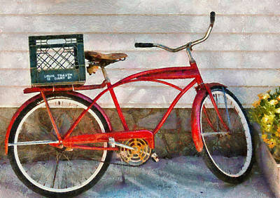 Photograph - Bike - Delivery Bike by Mike Savad