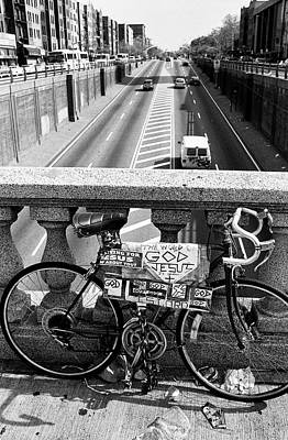 Photograph - Bike Grand Concourse Bronx by Dave Beckerman
