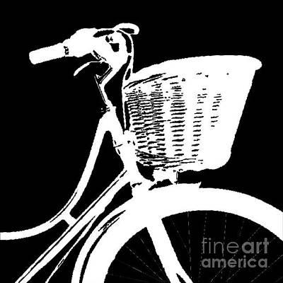 Hoodie Digital Art - Bike Graphic Tee by Edward Fielding