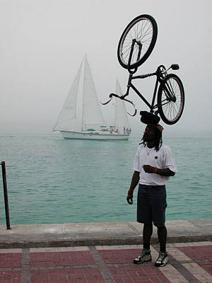 Photograph - Bike Head In Key West Florida by Carl Purcell