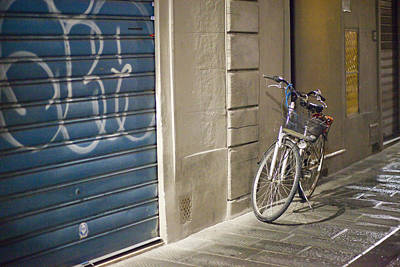 Bike In Florence Print by Andre Goncalves