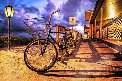 Photograph - Bike In Shadow by Debra and Dave Vanderlaan