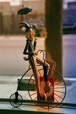 4th July Digital Art - Bike In The Window by Terry Davis
