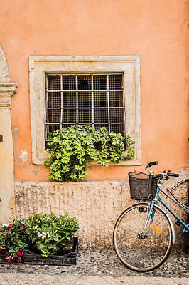 Travel Photograph - Bike In Verona by Lisa Lemmons-Powers