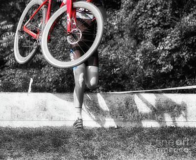 Bike Lifting  Art Print by Steven Digman