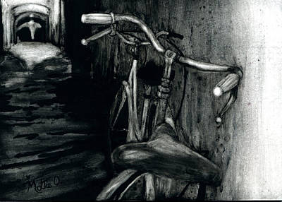 Two Bicycles Painting - Bike Lover's Alley by Mattie O