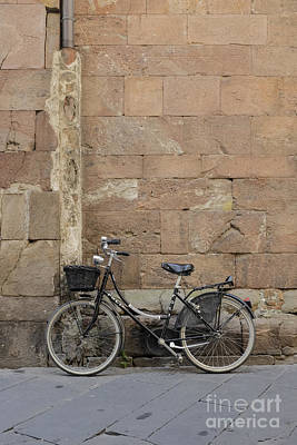 Bike Lucca Italy Art Print by Edward Fielding
