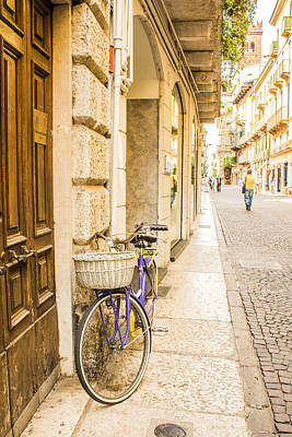 Travel Photograph - Bike On A Street In Italy by Lisa Lemmons-Powers