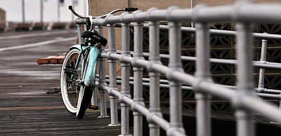 Bike On Boardwalk  Art Print
