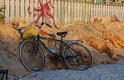 Photograph - Bike On The Beach by Michiale Schneider