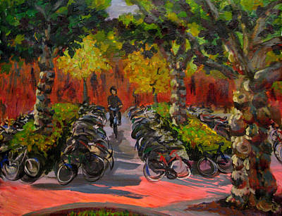 Painting - Bike Park by Art Nomad Sandra  Hansen