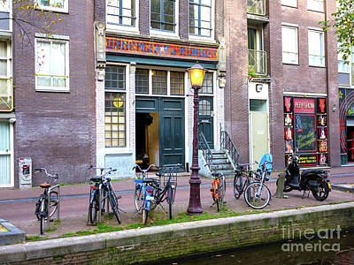 Photograph - Bike Parking In The Red Light District by John Rizzuto