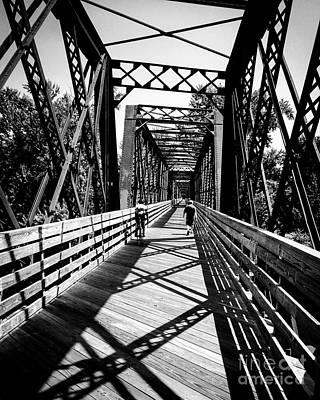 Bike Path Bridge Art Print by JMerrickMedia