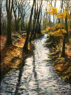 Pastel - Bike Path Brook by Jack Skinner