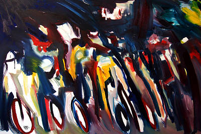 Painting - Bike Race Energy by John Jr Gholson