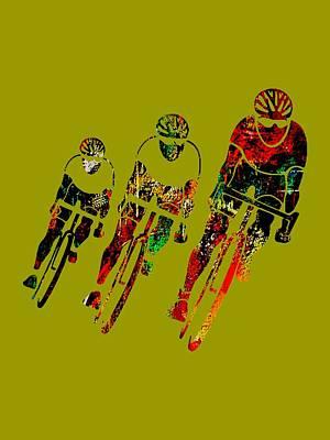 Mixed Media - Bike Race by Marvin Blaine