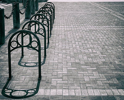 Photograph - Bike Rack Square by Michael Hope