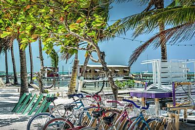 Photograph - Bike Rental Caye Caulker  by David Zanzinger