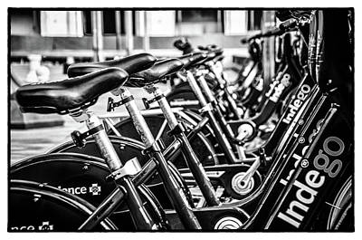 Photograph - Bike Rental In Black And White by Bill Cannon