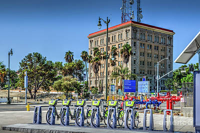 Photograph - Bike Rental Rack San Pedro by David Zanzinger