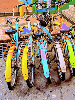 Photograph - Bike Rentals by Dominic Piperata