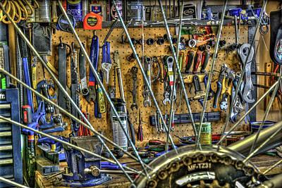 Bike Repair Shop Art Print