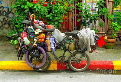 Photograph - Bike Repair Shop On Wheels by Christopher Shellhammer