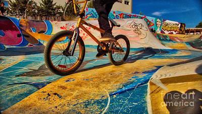 Photograph - Bike Ridding On A Skate Park by Pedro Venancio