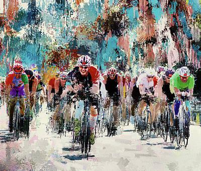 Digital Art - Bike Ride by Yury Malkov