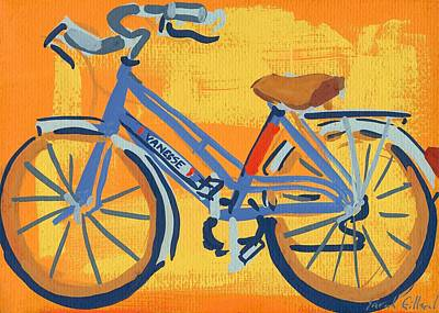 Cycling Painting - Bike by Sarah Gillard