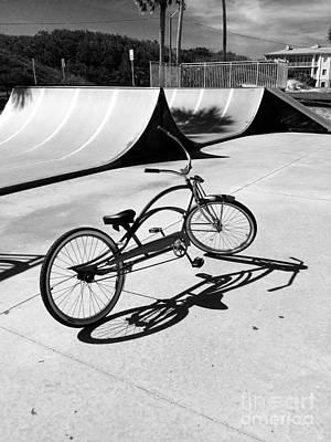 Photograph - Bike Shadow by WaLdEmAr BoRrErO