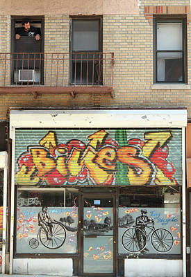Photograph - Bike Shop And Tenant by Cate Franklyn