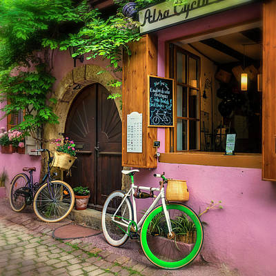 Photograph - Bike Shop Eguisheim Alsace France_dsc7312_16 by Greg Kluempers