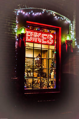 Photograph - Bike Shop Window by Mick Anderson
