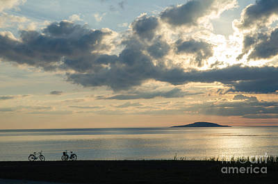 Photograph - Bike Silhouettes By The Coast by Kennerth and Birgitta Kullman