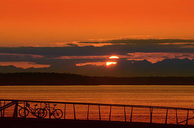 Photograph - Bike Sunset by Jason Butts