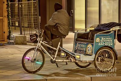Photograph - Bike Taxi by Steven Parker