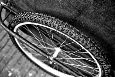 Photograph - Bike Tire Mono by John Rizzuto