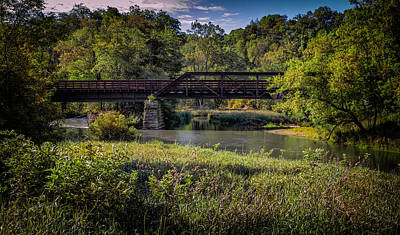 Digital Art - Bike Trail Bridge Near Lanesboro Mn by Al  Mueller