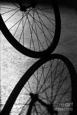 Photograph - Bike Wheel Shadow by Yali Shi
